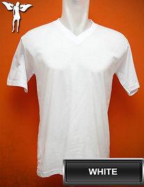 White V-Neck T-Shirt, kaos putih