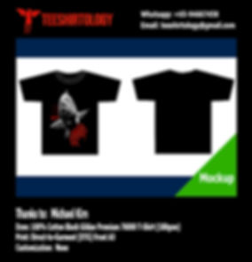 Fishing Black Cotton Gildan Premium 76000 T-Shirt DTG A3 Print