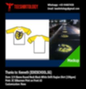 Bikeschool Screenprint of Drifit and Cotton 3/4 Sleeve Baseball Shirt