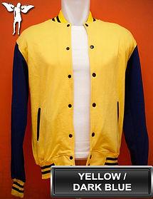Yellow/Dark Blue Varsity Jacket, baseball jacket, college jacket