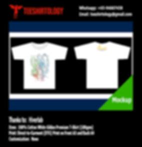Hiverlab White Cotton Gildan Premium 76000 Shirt DTG Print