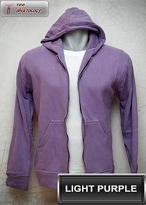 Light Purple Hooded Sweater, sweater hoodie ungu muda half zipper