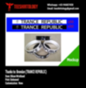 Trance Republic Embossed Silicon Wristband