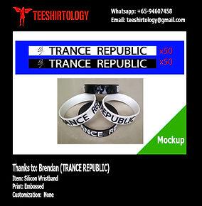 Trance Republic Embossed Silicon Wristband