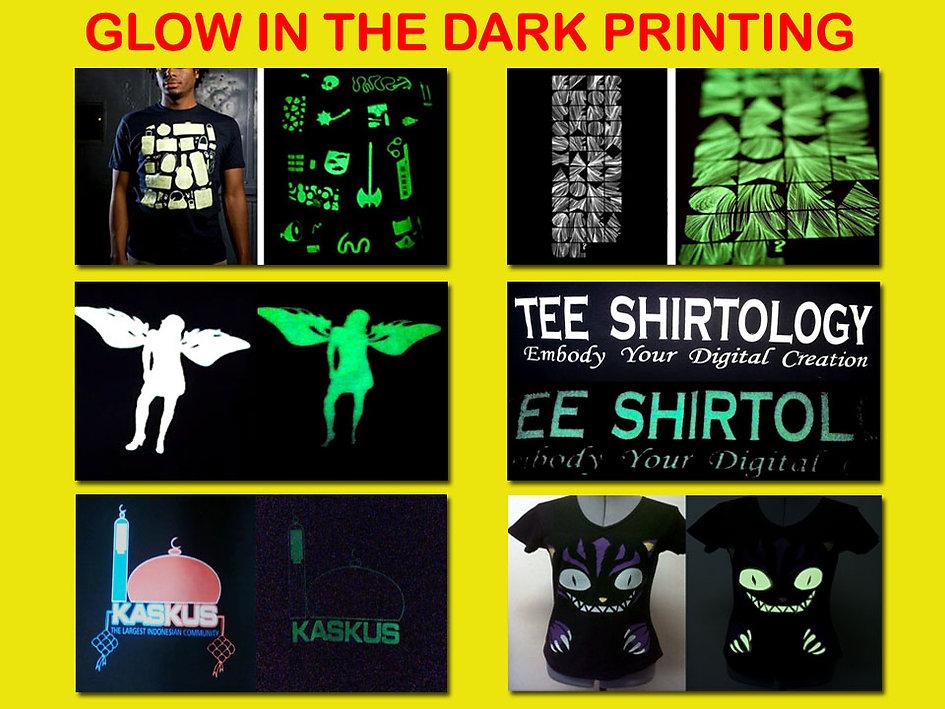 Glow in the Dark Printing, Sablon Glow in the Dark, t-shirt printing