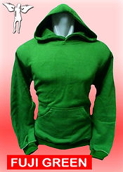 Digital Printing, Silkscreen Printing, Embroidery, Fuji Green Hoodie, Fuji Green Fleece Hoodie
