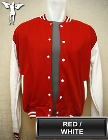Red/White Varsity Jacket, baseball jacket, college jacket