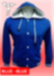 Digital Printing, Silkscreen Printing, Embroidery, Blue Blue Hooded Baseball Jacket, Blue Blue Fleece Hooded Varsity Jacket