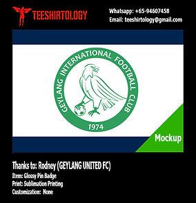 Geylang United FC Glossy Pin Badge