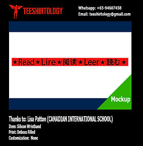 Canadian International School Deboss Ink Filled Silicon Band