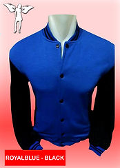 Digital Printing, Silkscreen Printing, Embroidery, Royal Blue Black Baseball Jacket, Royal Blue Black Fleece Varsity Jacket