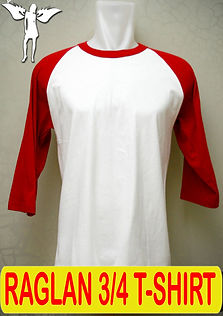 Round Neck Raglan T-Shirt, Silkscreen Printing, Embroidery Printing, DTG printing, digital transfer, embroidery