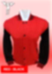 Digital Printing, Silkscreen Printing, Embroidery, Red Black Baseball Jacket, Red Black Fleece Varsity Jacket