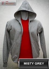 Misty Grey Hooded Sweater, sweater hoodie abu misty half zipper
