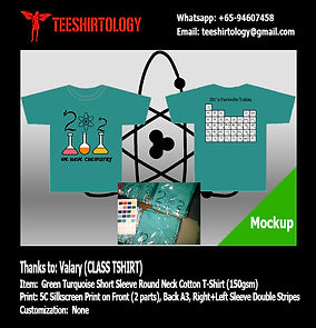 Green Turquoise Cotton Class T-Shirt Screenprinting