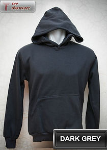 Dark Grey Hooded Sweater, sweater hoodie abu tua