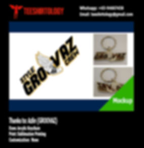 Groovaz Arcylic Keychain
