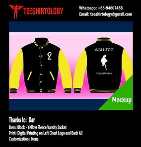 Digital Print of Black Baseball Jacket