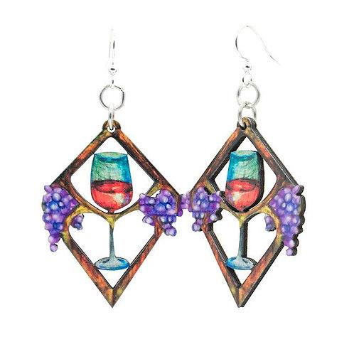Heart in Wine Earrings #1624