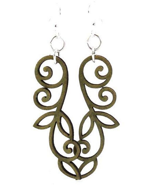 Vined Line Earrings #1167