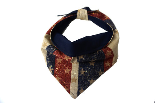 United We Stand Patriotic Dog Bandana for Memorial Day, 4th of July Labor Day