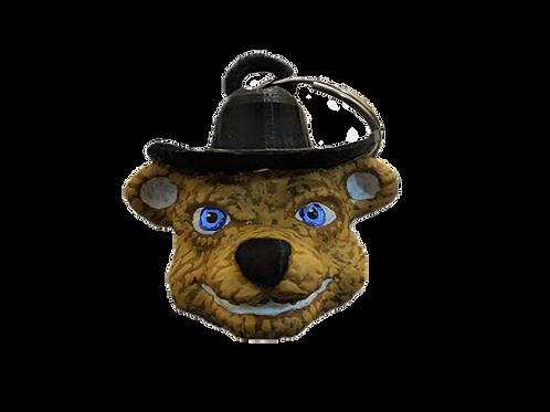 John the Cowboy Bear Keychain