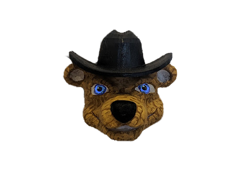 John the Cowboy Bear Fridge Magnet