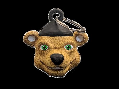Paul the Lumberjack Bear Keychain