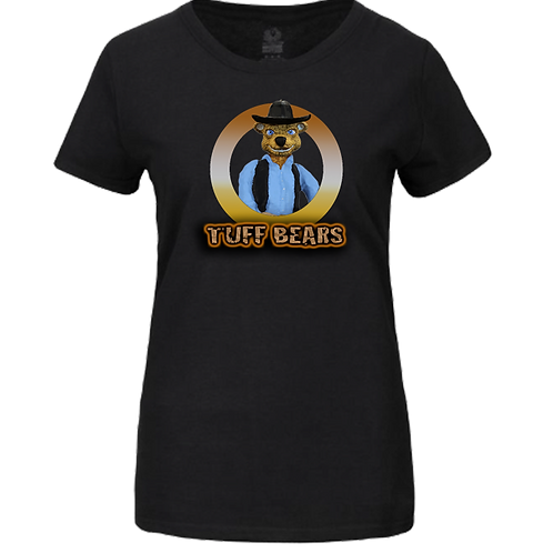 John The Cowboy Bear Ladies T-Shirt