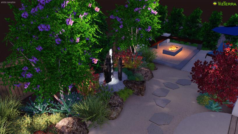 Colorful Healing Garden