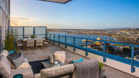 Waterfront balcony