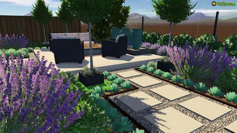 Serene contemporary garden