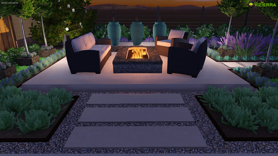 Contemporary Raised Firepit