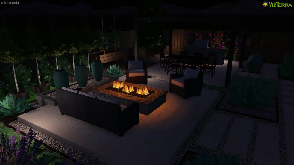 Soothing Garden with Outdoor Dining