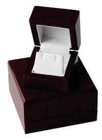 Polished wood ring box