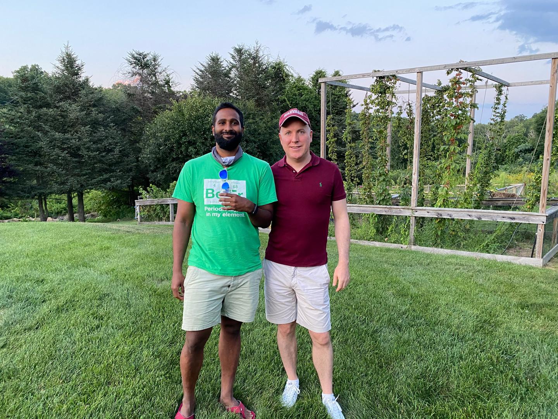 With my partner, Josh, in 2020