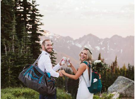 Adventurous & Romantic Mount Rainier Summer Elopement