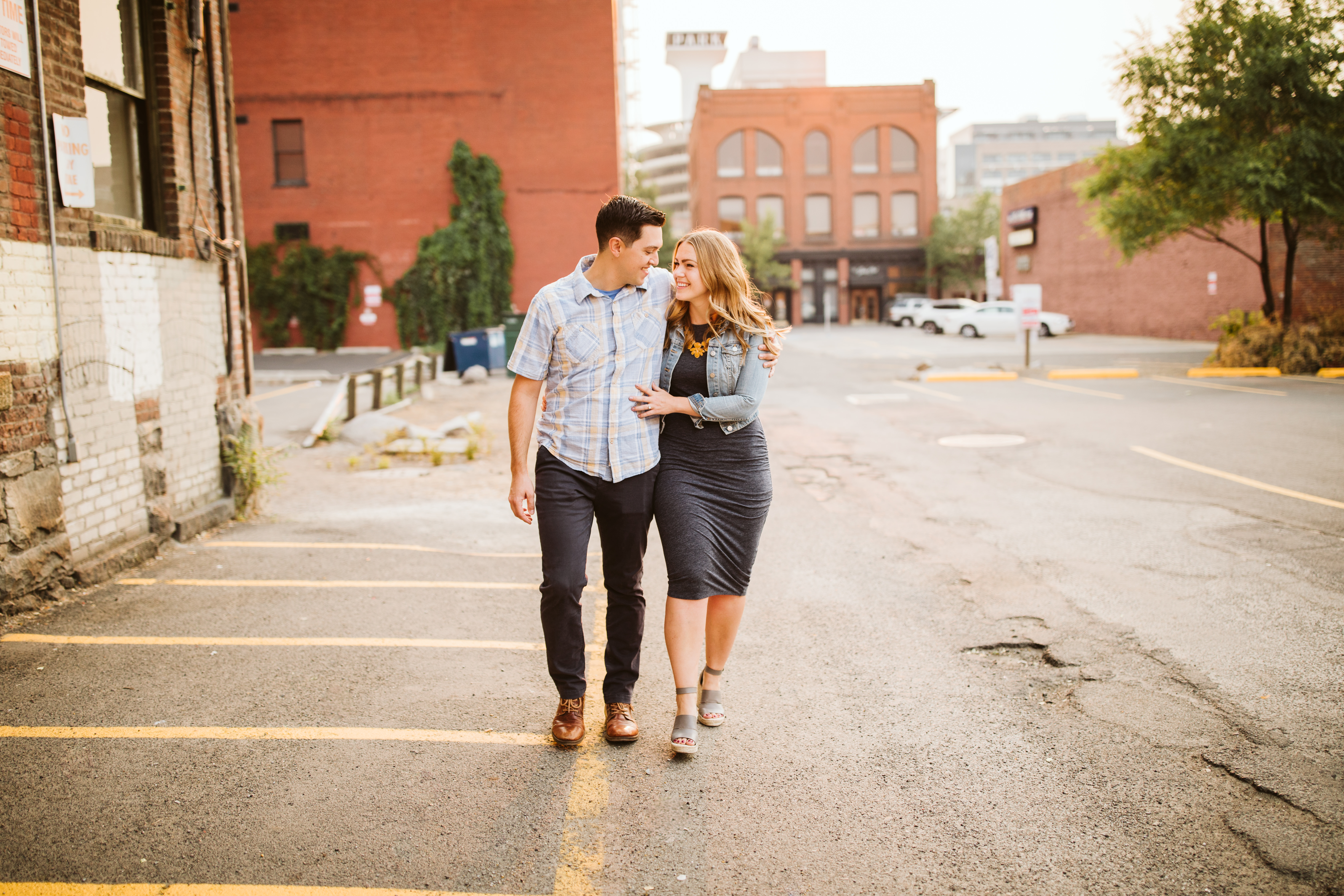 downtown spokane engagement session