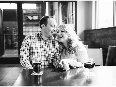 Sweet & Cozy Engagement Session at Perry Street Brewing