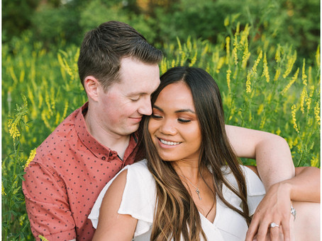 Golden Hour Summer Evening Engagement Session | Spokane Wedding Photographer