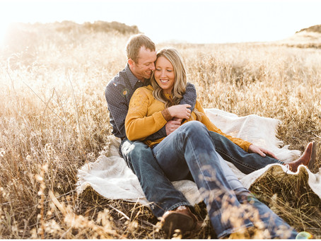 Dreamy Golden Hour Engagement Session in Odessa, Washington