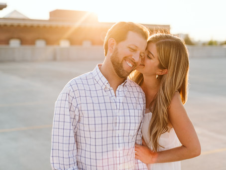 Golden Hour Rooftop Engagement Session | Spokane, WA