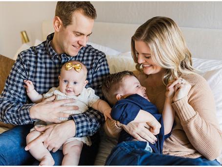 Cozy, In Home Family Session | Spokane Family Photographer