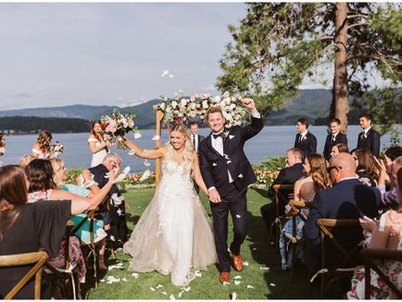 Elegant & Chic Lakeside Wedding at Hayden Lake Country Club