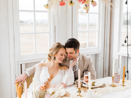 Boho Styled Elopement | Farmhouse on Greenbluff