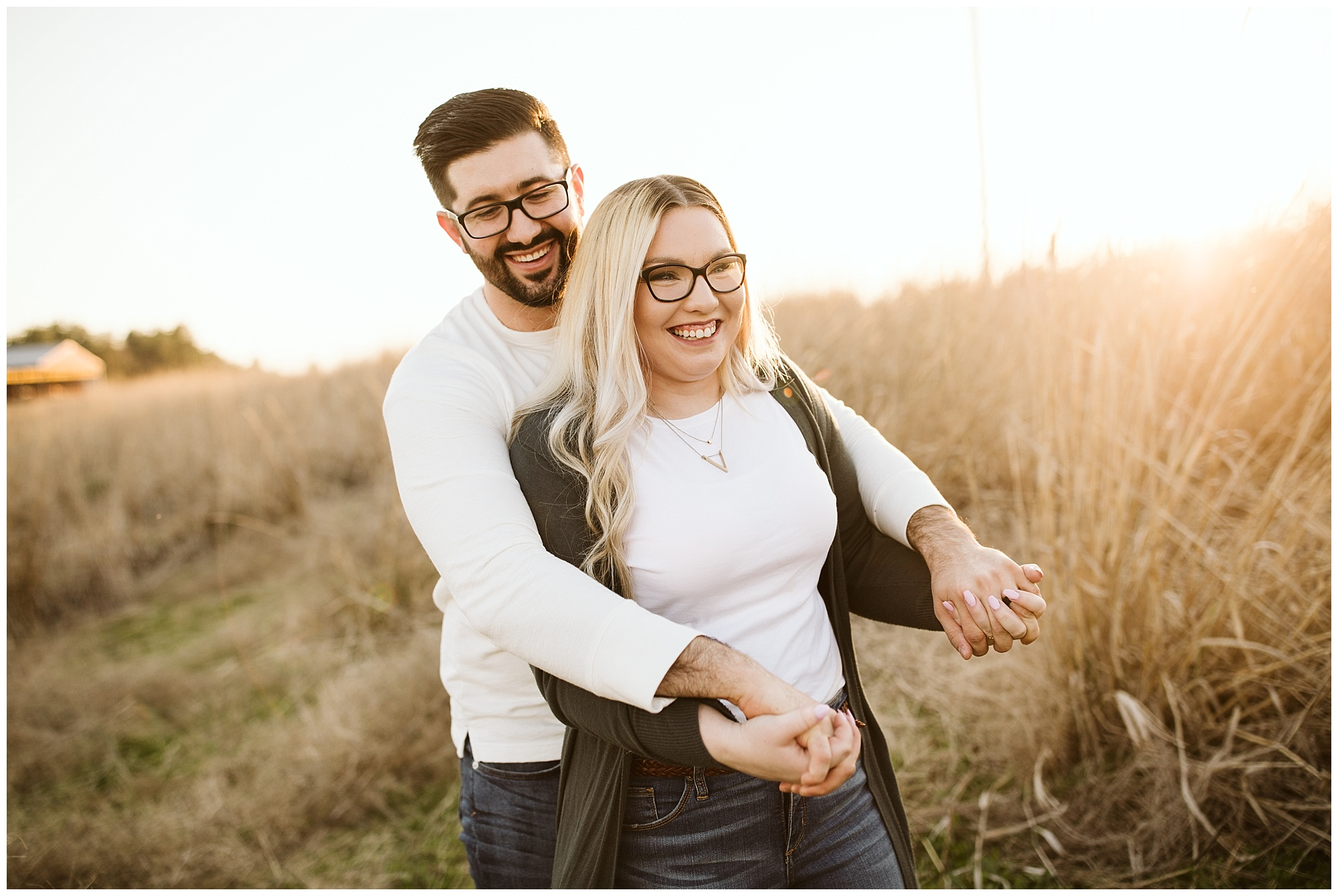 green bluff engagement session
