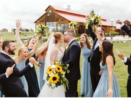 Colorful, Spring Greenbluff Wedding at Trezzi Farm Winery