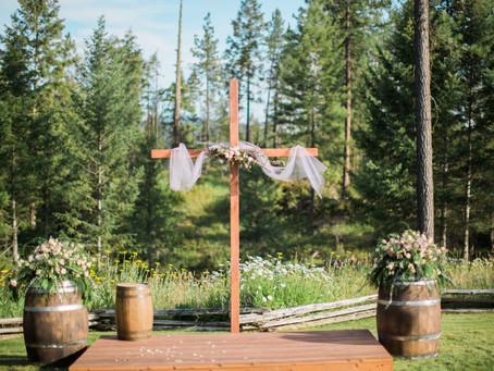 Amy & Sean   Chewelah Backyard Wedding
