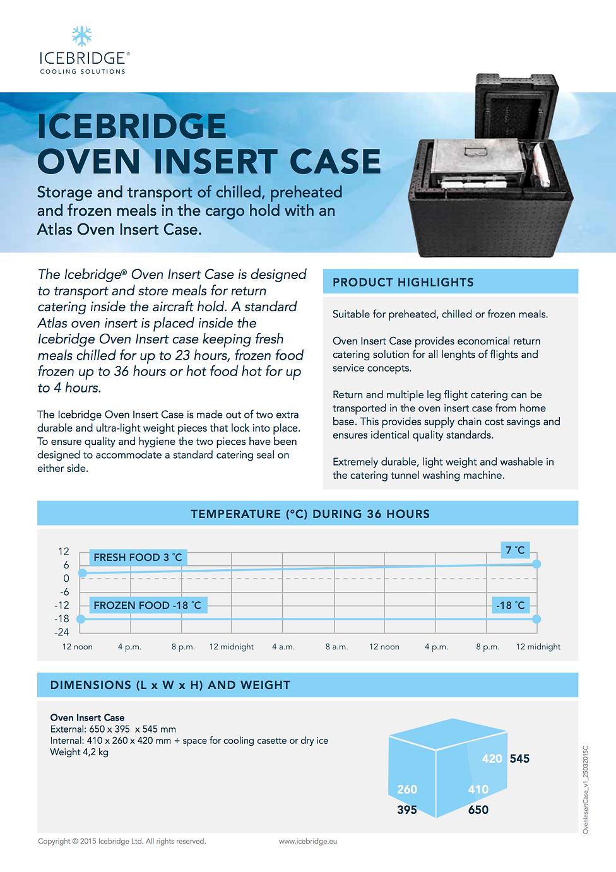 Icebridge Oven Insert Case