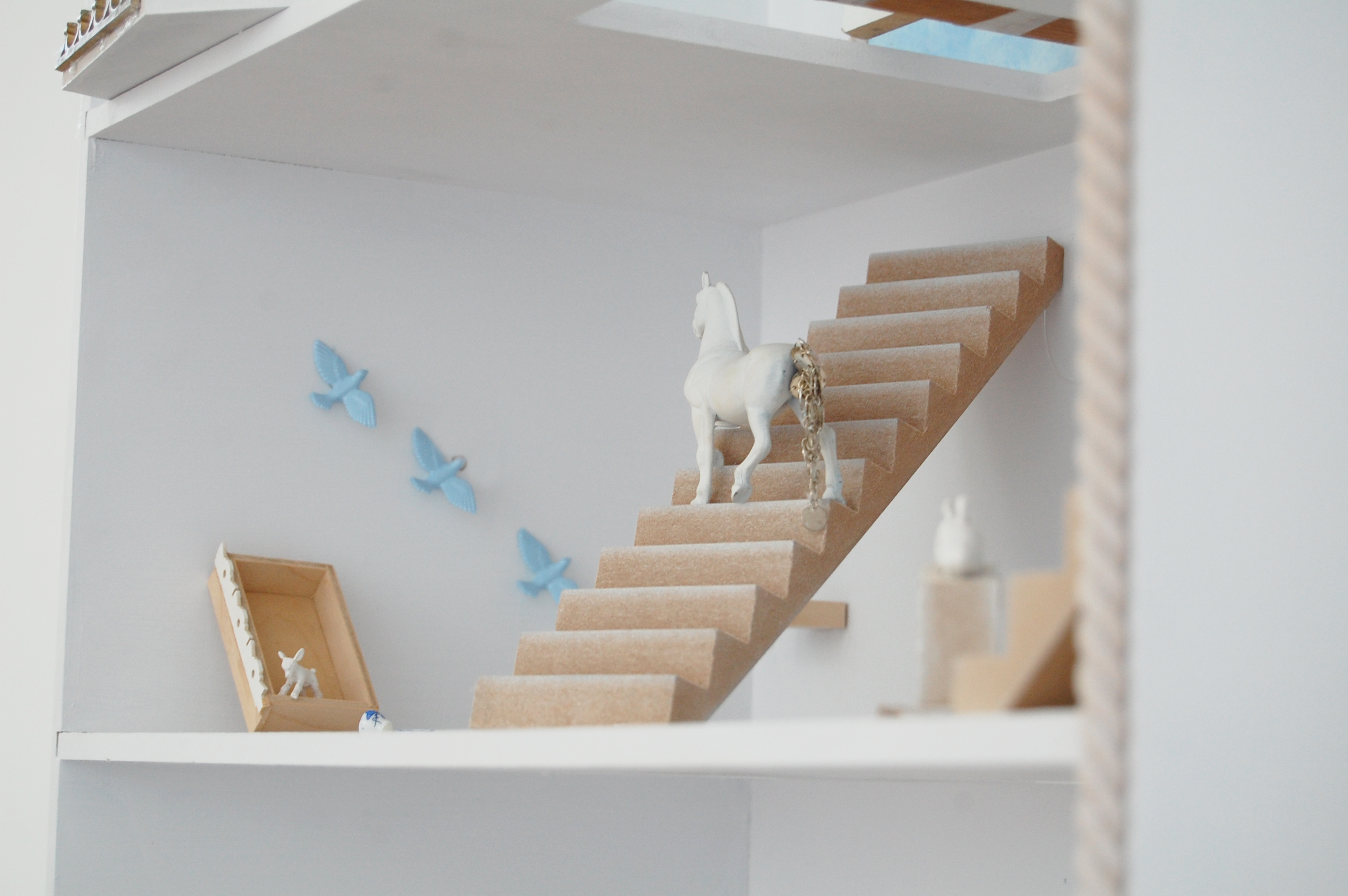 Horse on Stairs-Horse House Detail